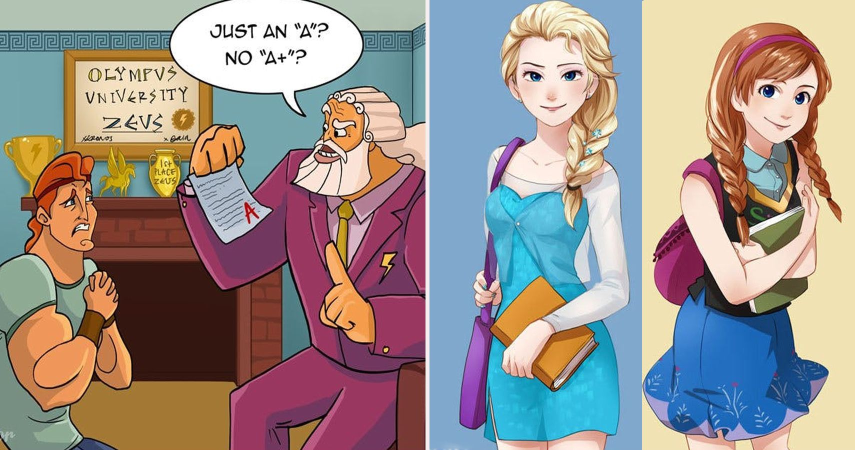 25 Disney Cartoon Characters Reimagined As College Students