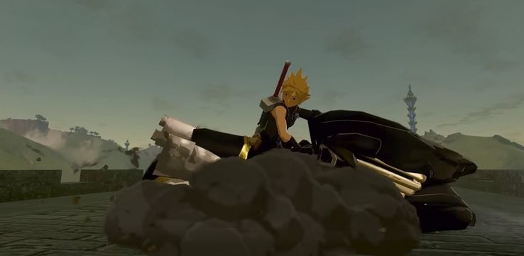 Breath Of The Wild Mod Replaces Link With Final Fantasy VII's Cloud