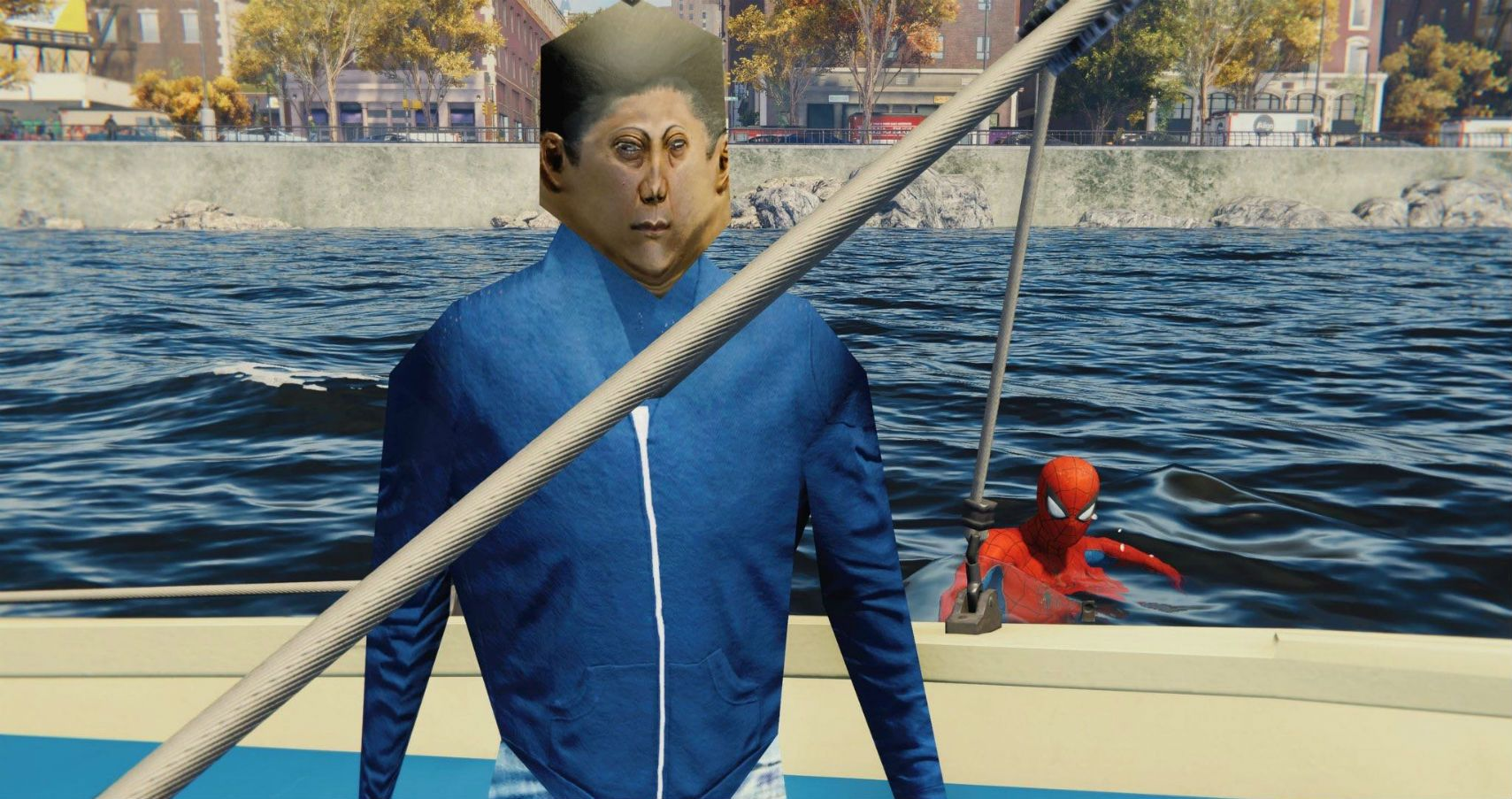 marvel's spider-man has terrifying boat people - is it a weird