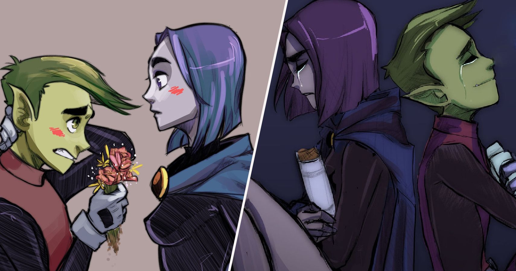 Teen Titans: 25 Weird Things About Raven And Beast Boy's