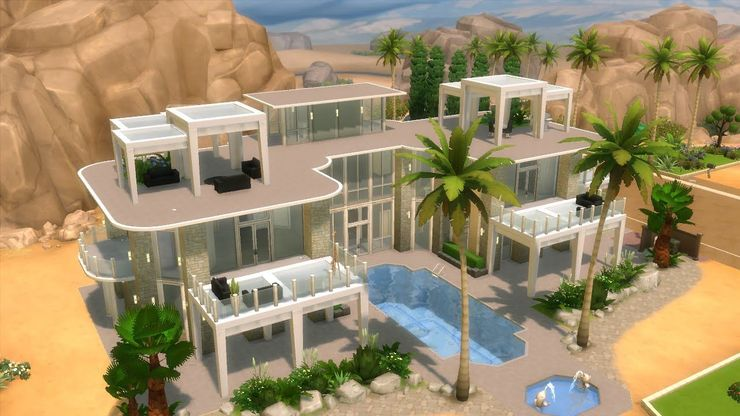 The Sims 4 15 Incredible Mansions That Use No Custom Content