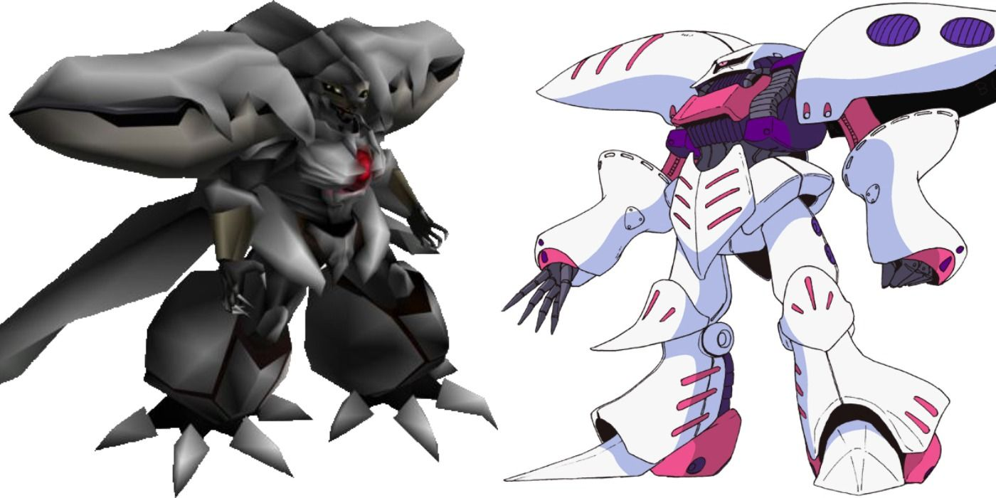 The Weapon Monsters In Final Fantasy Vii Are Based On Gundam Suits Game Thought Com