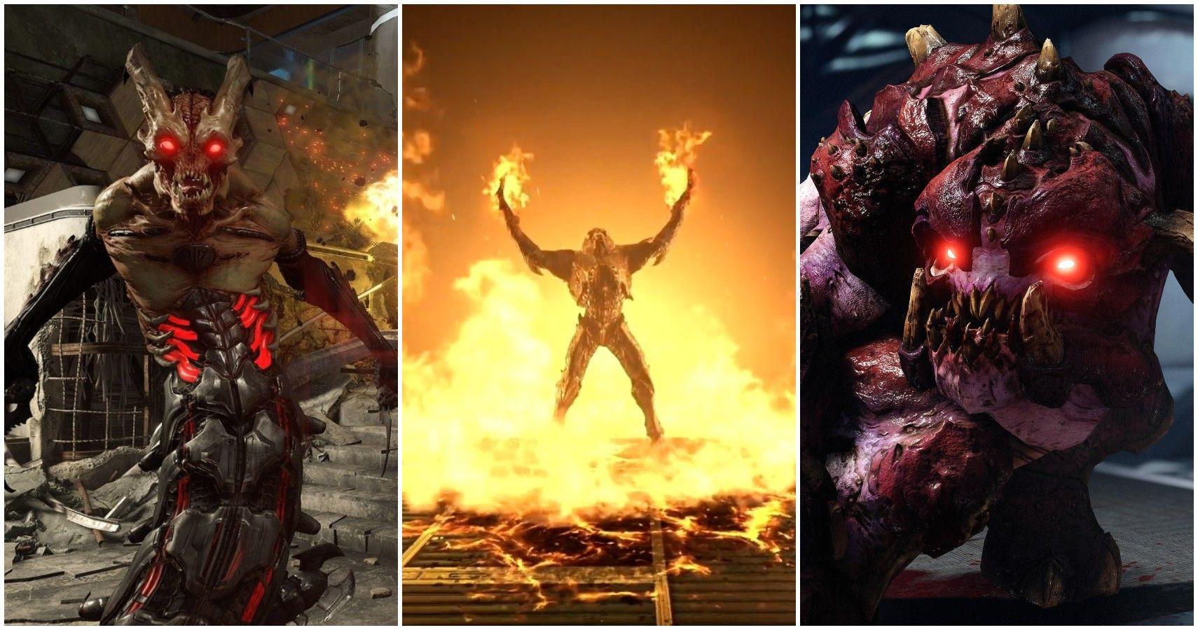 Doom Eternal 10 Scariest Enemies Ranked Thegamer