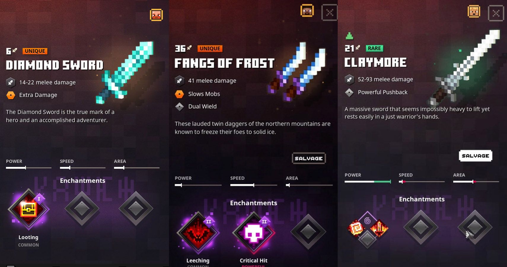 Ranking The 15 Best Minecraft Dungeons Melee Weapons Thegamer