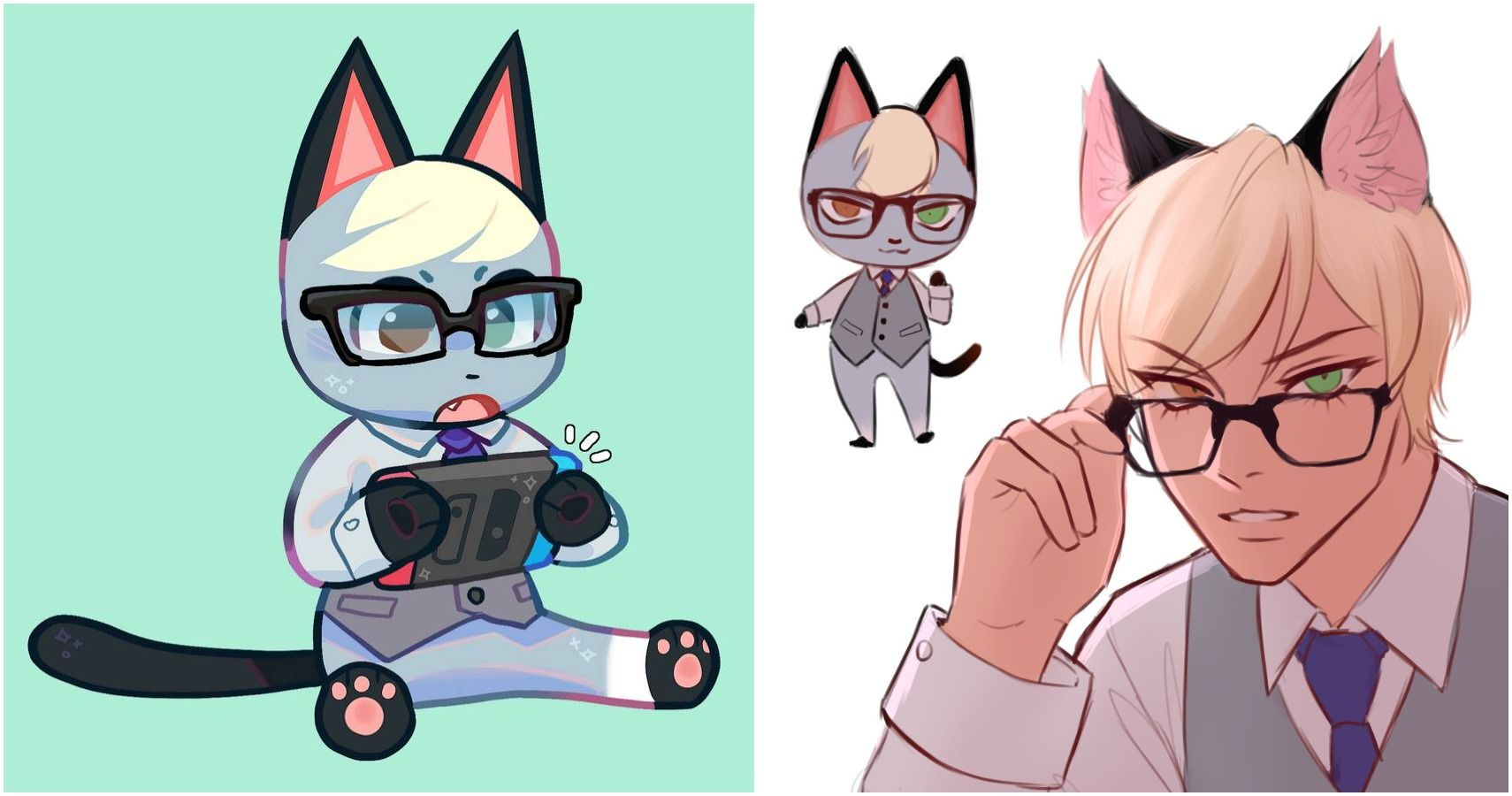 Animal Crossing 10 Pieces Of Raymond Fan Art Thegamer
