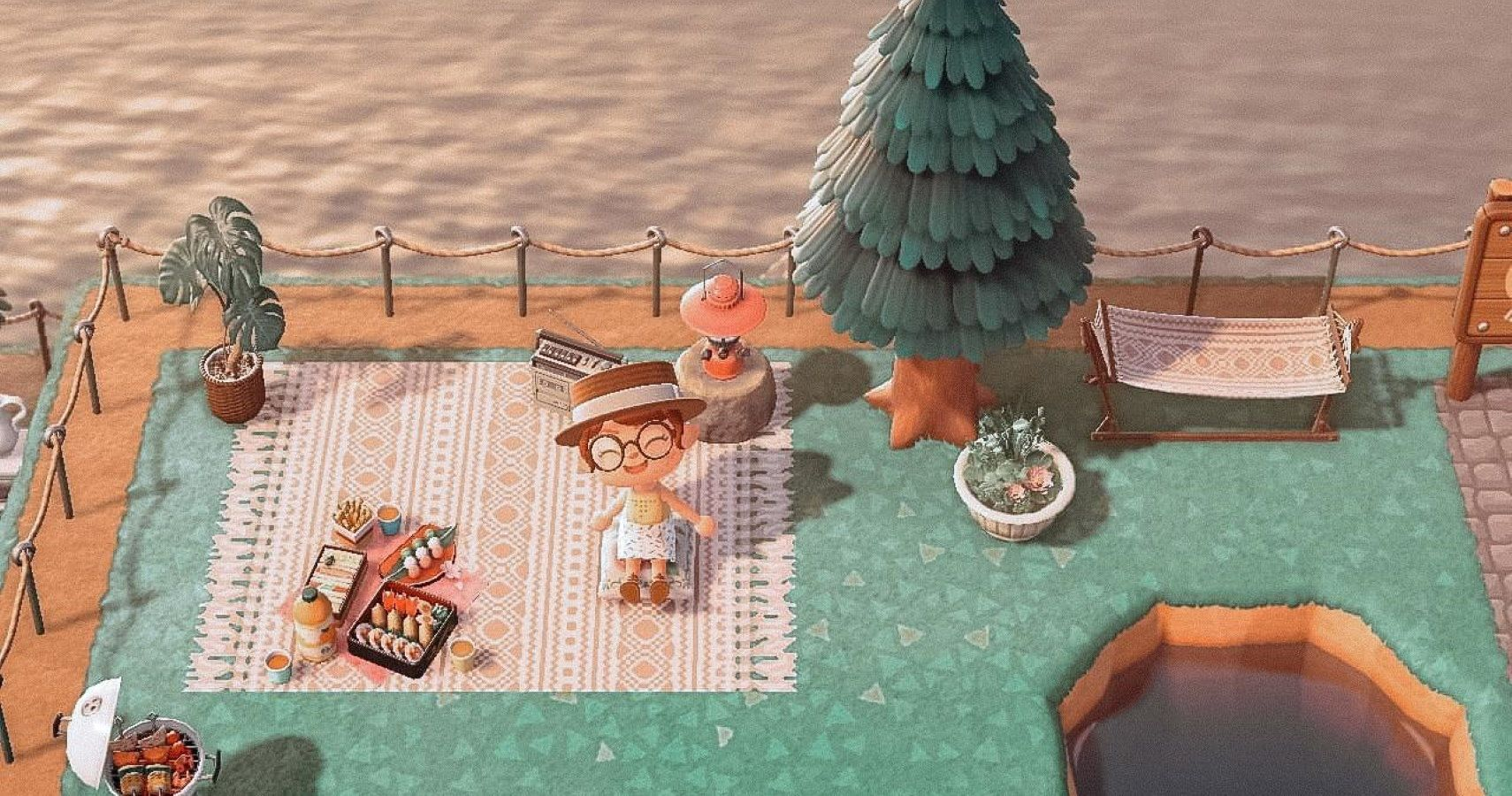 Animal Crossing New Horizons How To Add A Cozy Picnic Blanket