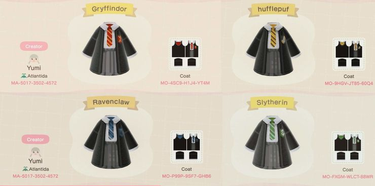 Animal Crossing New Horizons Codes For Wizarding World Costumes And Replicas Although it is the end of term, hardly anyone has left the school, and despite the homework assigned for the break, harry enjoys himself in the week between the term's end and christmas. animal crossing new horizons codes