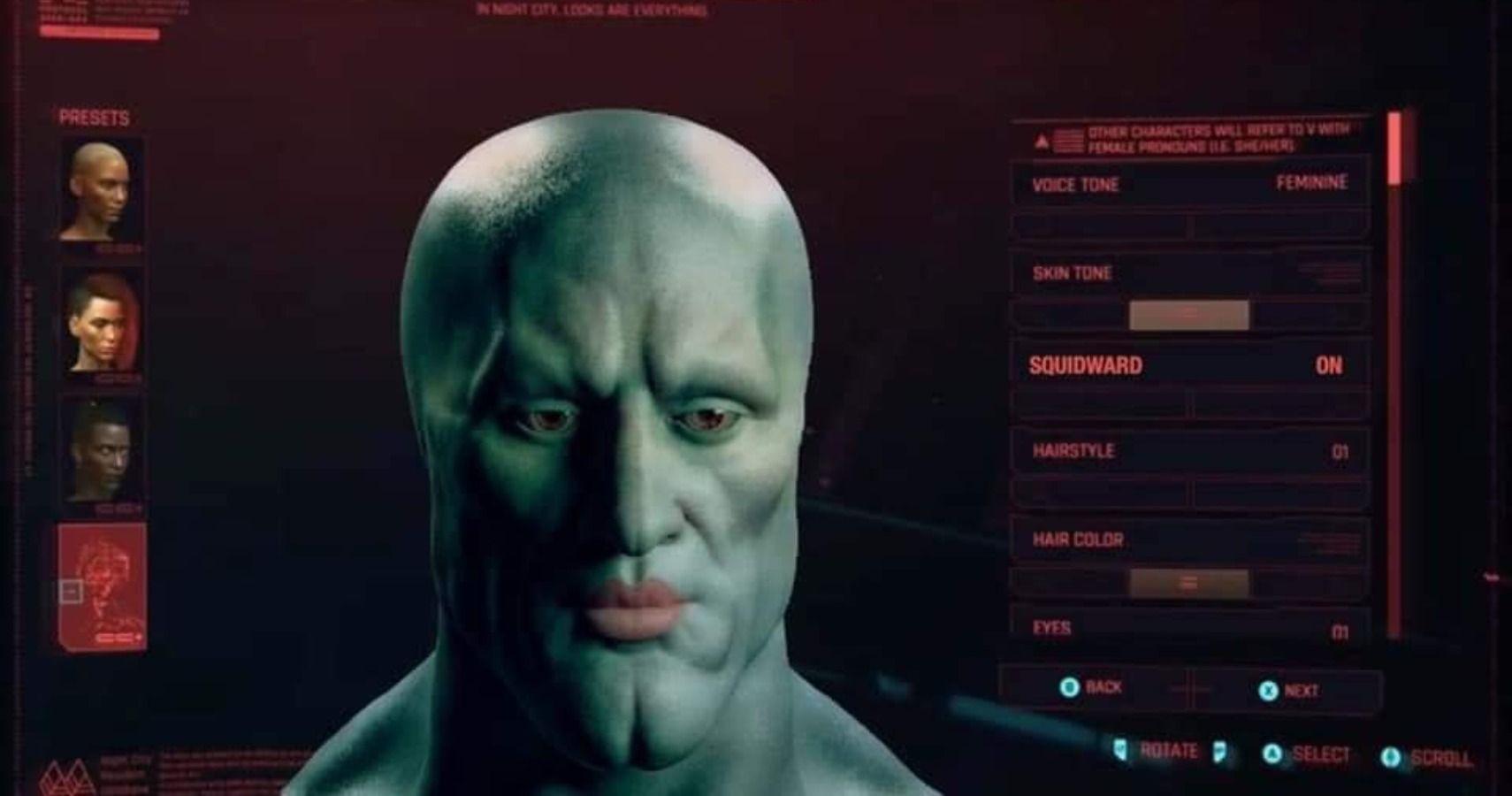 Someone Made Handsome Squidward In Cyberpunk 2077   TheGamer
