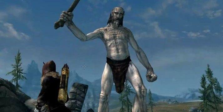 Skyrim Player Sees Giant Riding A Dragon